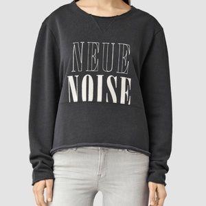 All Saints Navy Blue NeueNoise Isola Sweatshirt